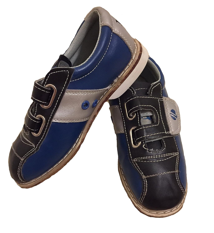 Linds Mens Monarch Rental Bowling Shoes- Hook and Loop B00NOF8IB6 14 M US|Blue/Silver