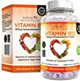 Vitamin B12 Methylcobalamin 1000 mcg   6-Monats-Versorgung - 180 Perlen   Vitamin b12 Vegan   Hochdosiert   Nahrungsergänzungsmittel von Nutravita