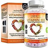 Vitamine B12 1000 µg Methylcobalamine - Cure De 6 mois 180 Comprimés - Formule Avancée Pour Usage Quotidien Par Nutravita