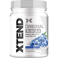 Scivation XTEND Original BCAA Powder Blue Raspberry Ice | Sugar Free Post Workout Muscle Recovery Drink with Amino Acids…