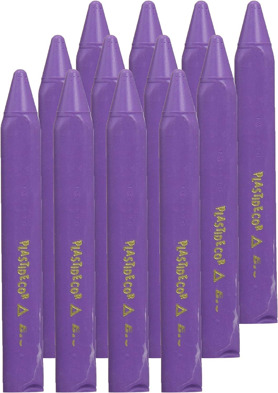 Plastidecor 816 - Ceras, caja de 12 unidades, color lila: Amazon.es: Oficina y papelería