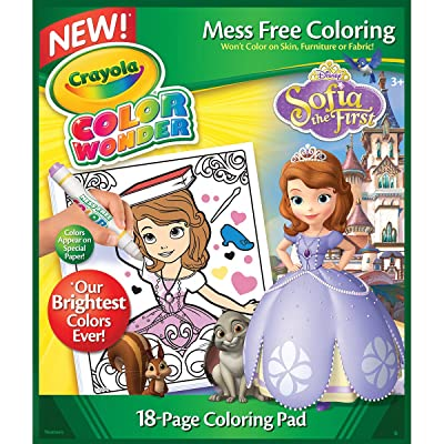 Crayola Color Wonder, Sofia The 1st Refill Book, 18 Sofia Coloring Pages, Gift for Age 3, 4, 5, 6: Toys & Games