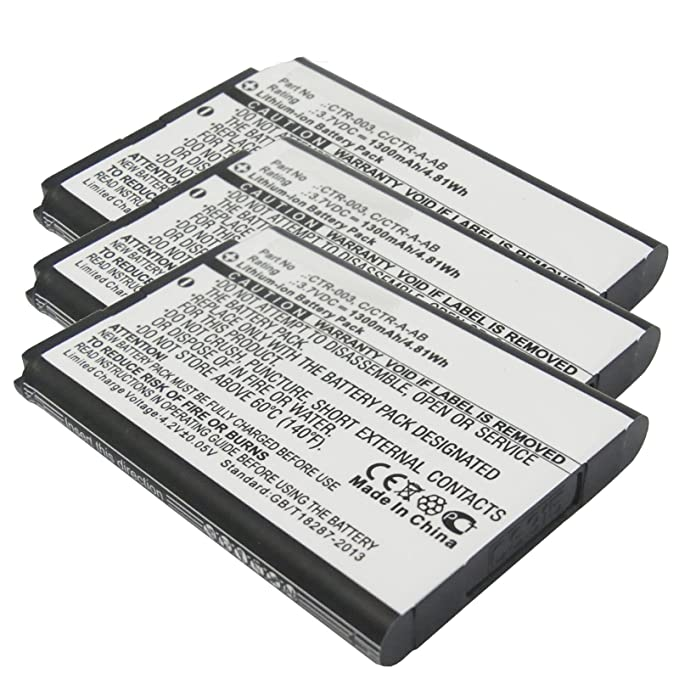 Amazon 3pc 37v 1300mah Game Console Battery For Nintendo 3ds