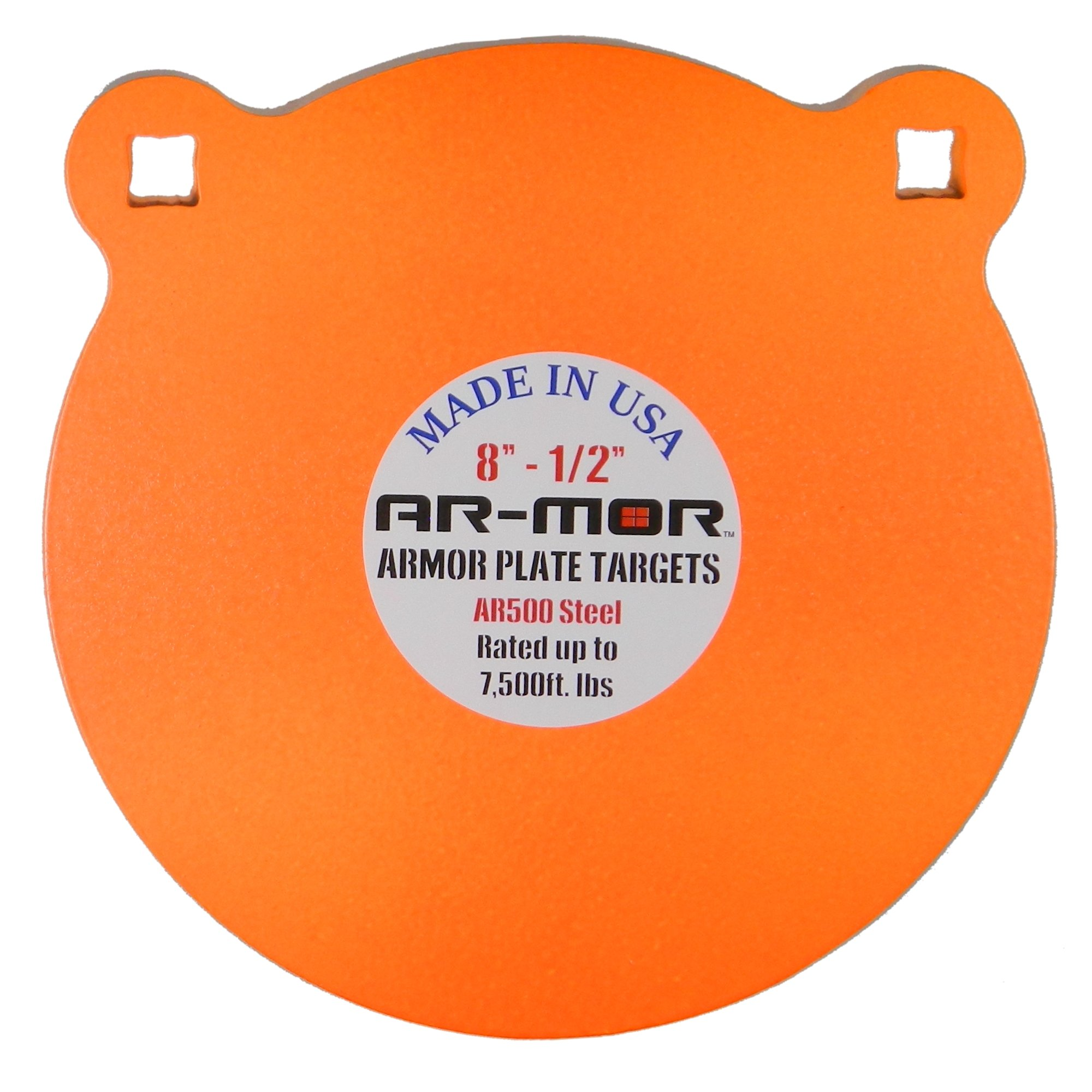 AR-MOR Targets 8'' x 1/2'' Round AR-500 Gong, Orange, One Size