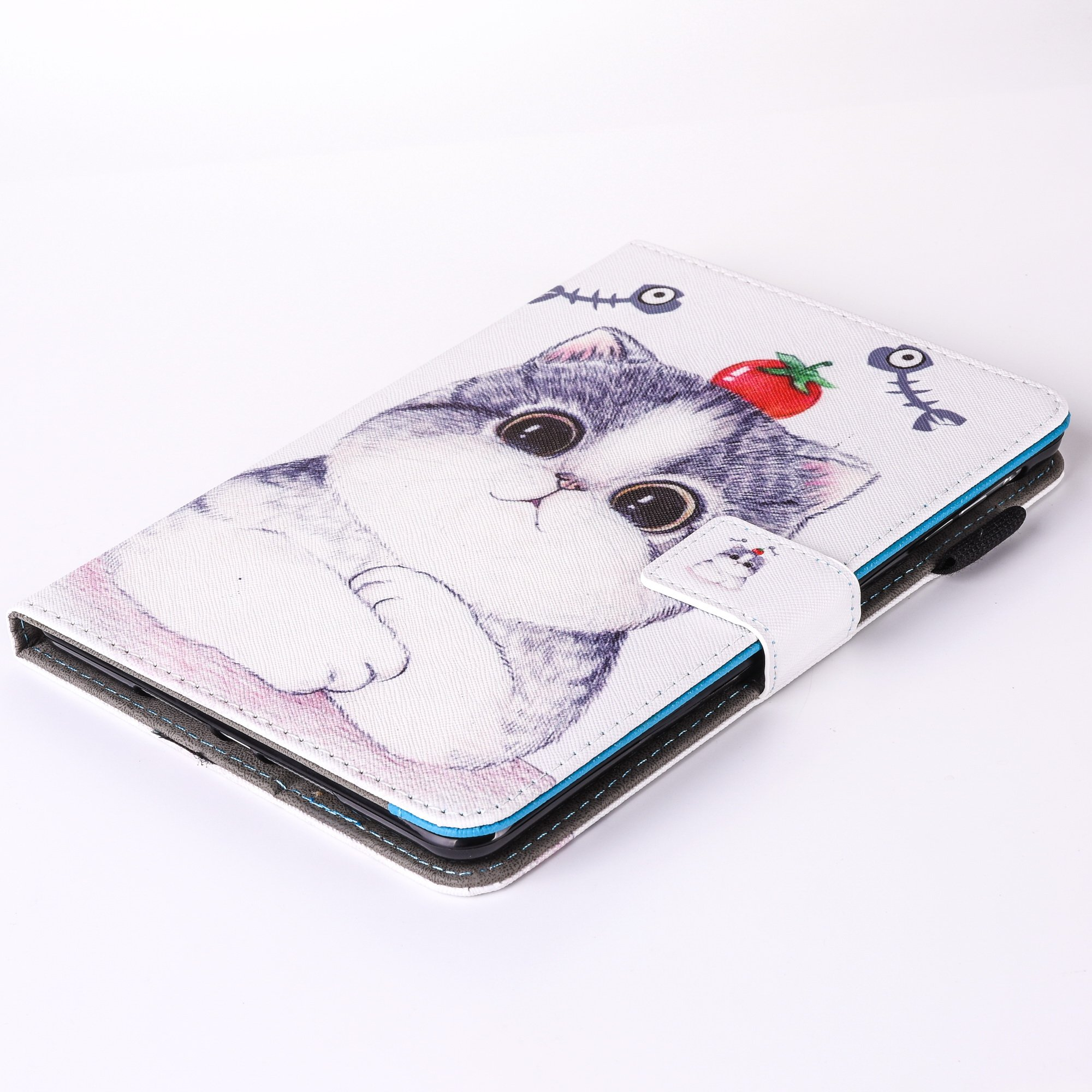 iPad Air 2/iPad Air/iPad 9.7 inch 2017 Case, PU Leather Folio [Anti-Slip] Cover with [Magnetic Closure] [Cards Slots] Auto Sleep/Wake for Apple iPad 9.7 2017/iPad Air 1&2 (iPad 5&6), Sketch Cat by Wallace Elec (Image #8)