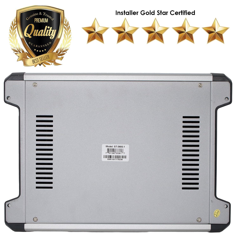 Amazon.com: SoundXtreme ST-3600.1 MonoBlock Amplifier 1 Ohm Stable 3600W w/ Remote Subwoofer Level Control: Car Electronics