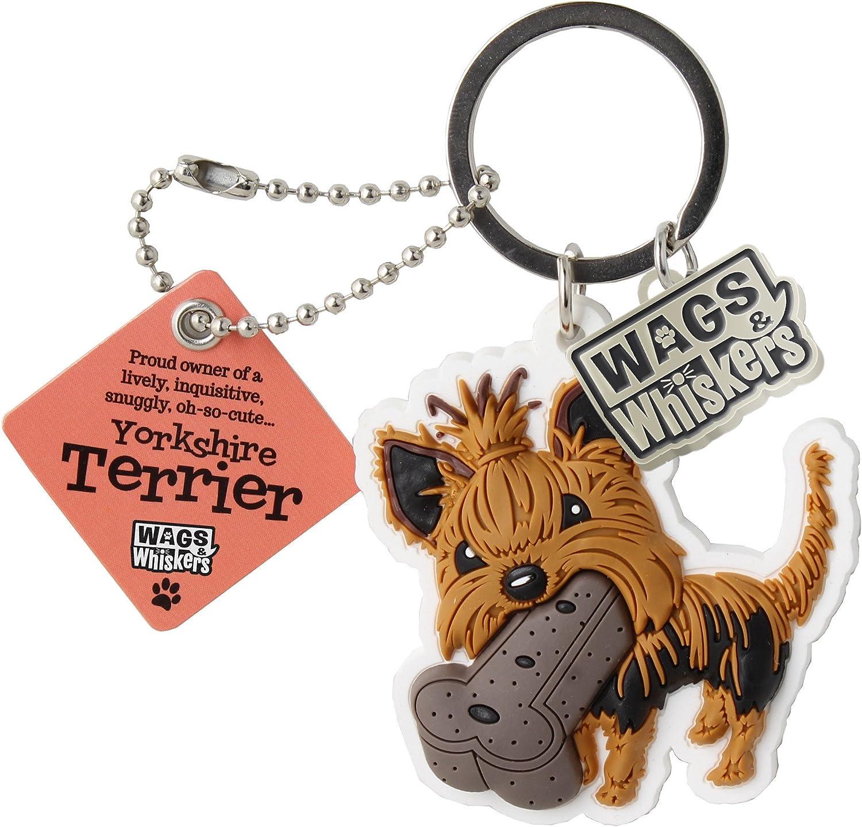 Wags and Whiskers 886767110820 Yorkshire Terrier Porte-cl/és avec porte-cl/é