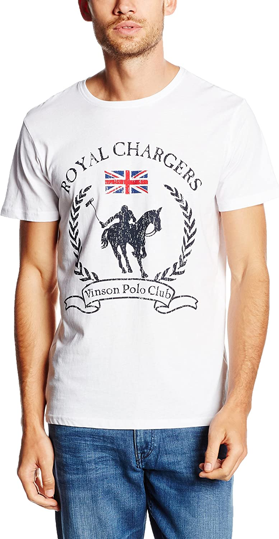 Vinson Polo Club Camiseta Manga Corta Caine Blanco XL: Amazon.es ...