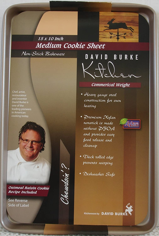 David Burke Kitchen Commercial Weight Non-Stick Medium Cookie Sheet ...