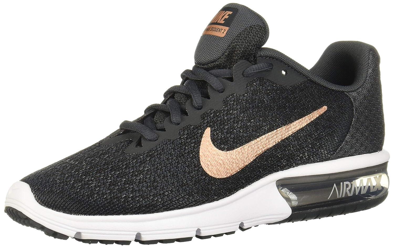 MultiCouleure (Anthracite Mtlc rouge Bronze noir blanc 013) Nike WMNS Air Max Sequent 2, Chaussures de Fitness Femme 42.5 EU
