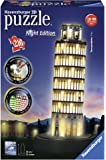 Ravensburger Italy Torre di Pisa Puzzle, 3D Building, Night Edition, 12515