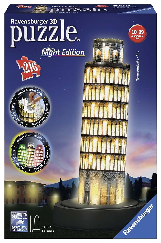 Ravensburger 12596 3D-Puzzle Freiheitsstatue bei Nacht Ravensburger Spielverlag