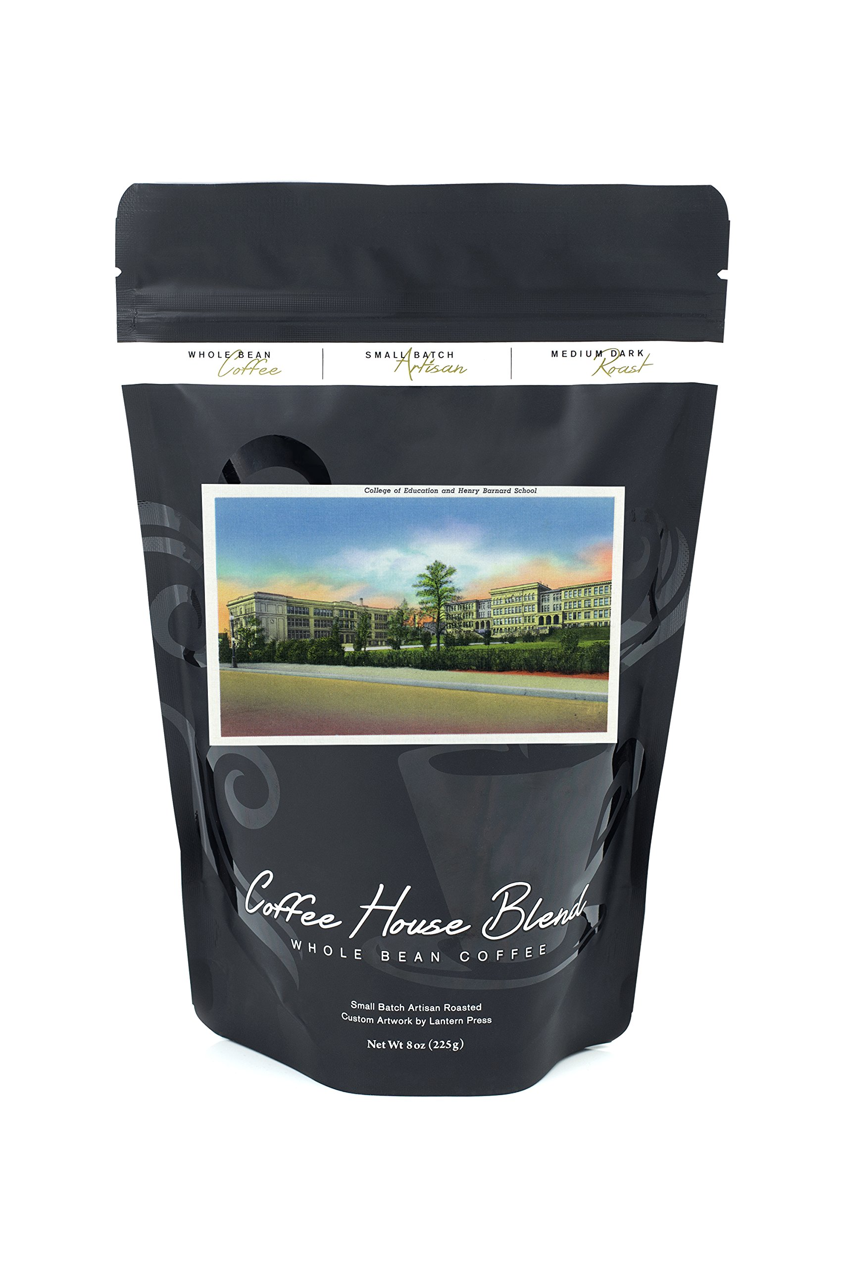 Providence, Rhode Island - Exterior View of the College of Education and H. Barnard School (8oz Whole Bean Small Batch Artisan Coffee - Bold & Strong Medium Dark Roast w/Artwork)