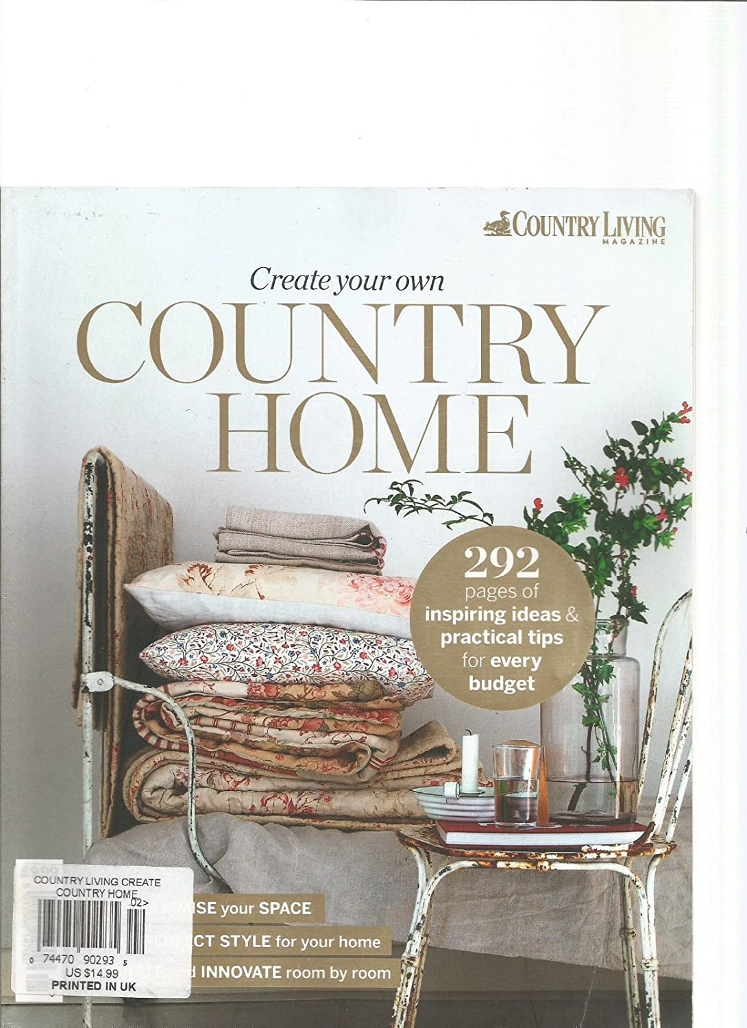 Amazon.com : COUNTRY LIVING MAGAZINE CREATE YOUR OWN COUNTRY HOME ...