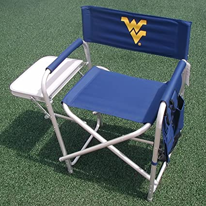 Fine Amazon Com Ncaa Directors Chair Ncaa Team West Virginia Gmtry Best Dining Table And Chair Ideas Images Gmtryco