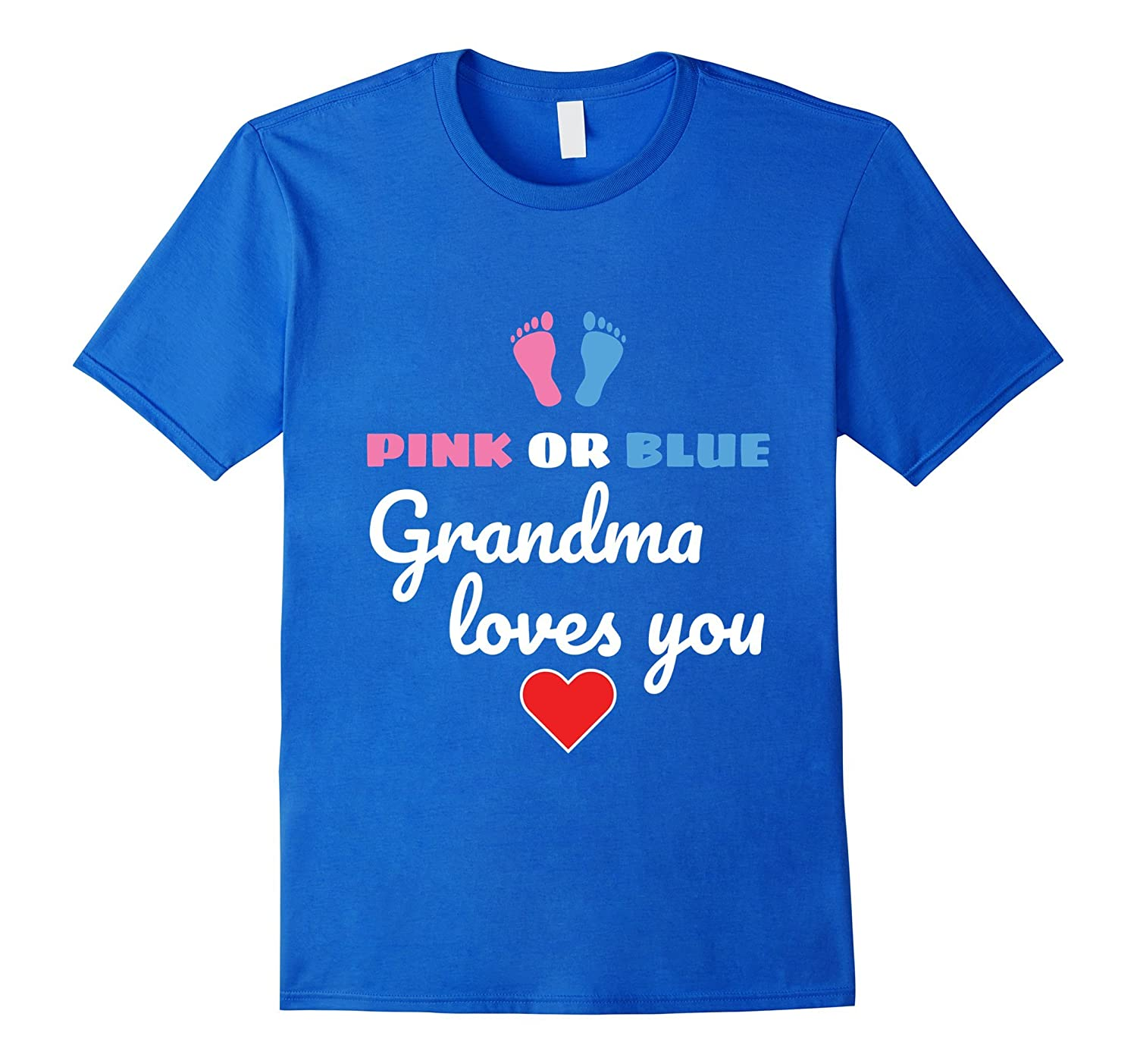 Grandma T Shirt For Gender Reveal Party And Baby Shower Pl Polozatee