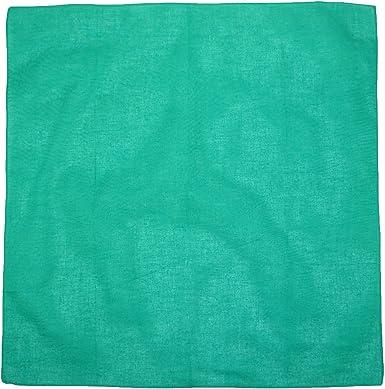 CTM Bandanas de algodón sólido individualmente doblado y ...