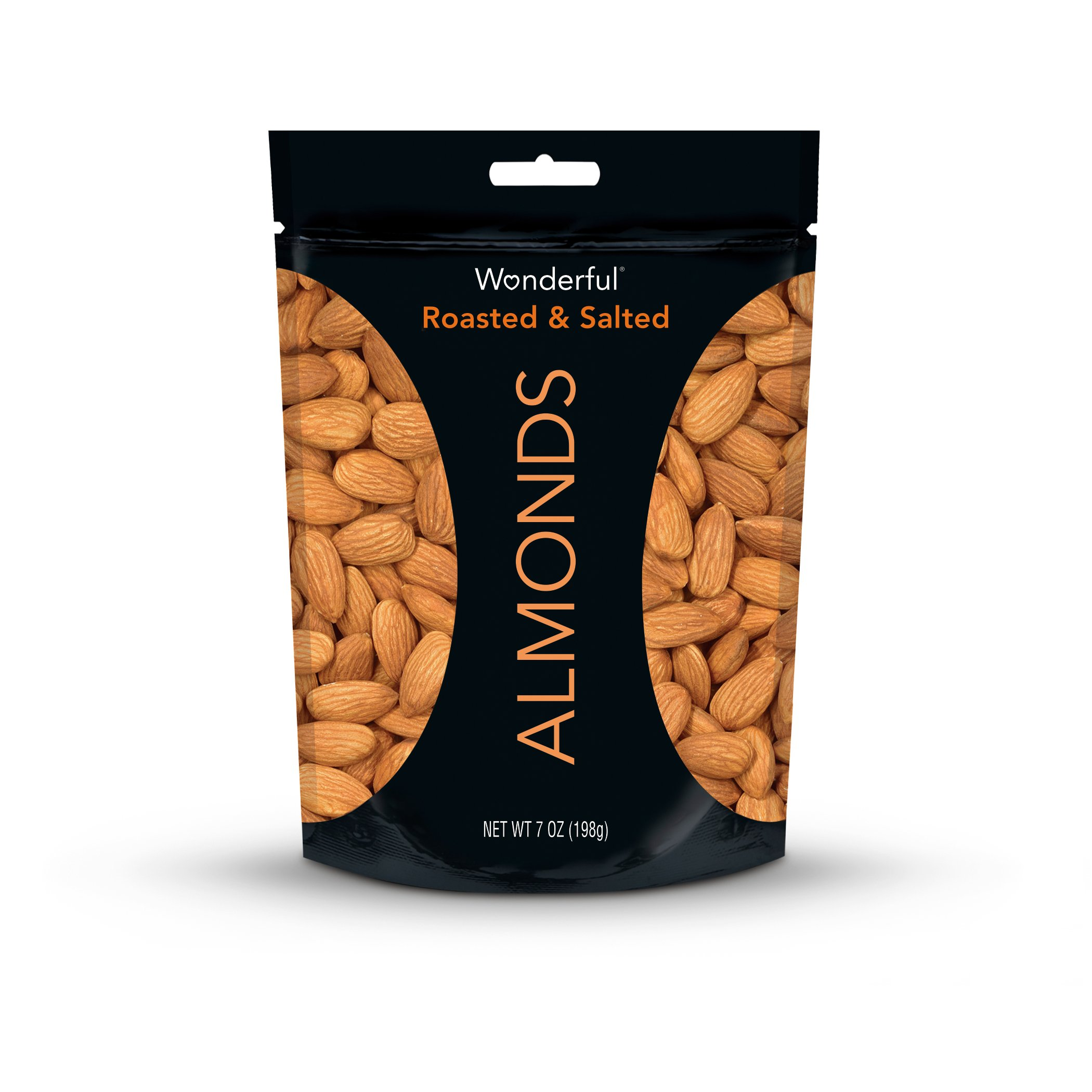 Wonderful Almonds, Roasted and Salted, 7 Ounce Bag