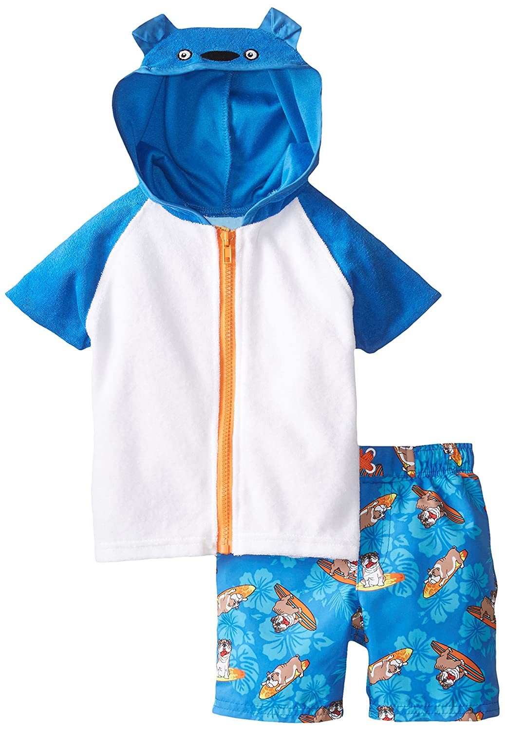 Baby Buns Baby-Boys Infant Surfs Ruff Cover Up Set Baby Buns Swimwear W13688