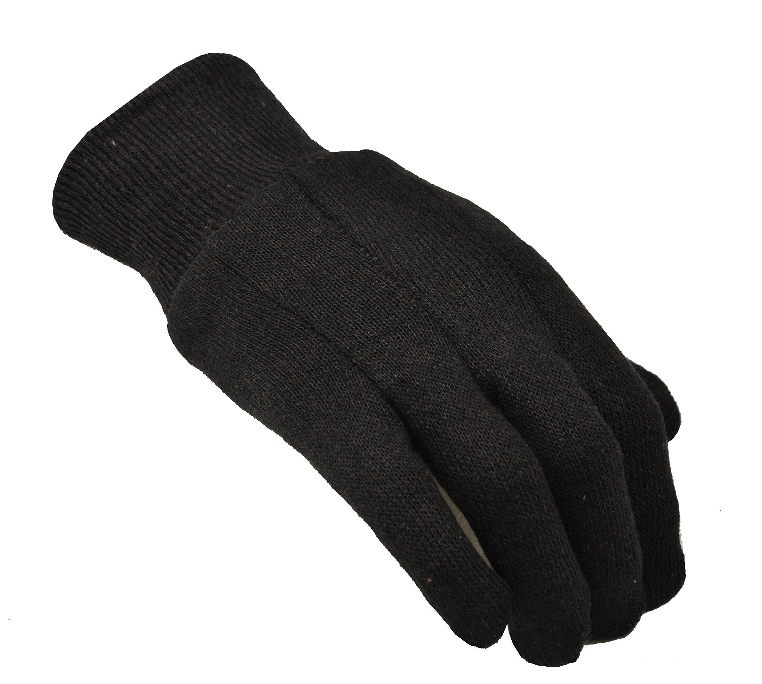 G & F 4408-25 Heavy Weight 9oz Cotton Brown Jersey Work Gloves, Large, 25-Dozen by G & F (Image #2)