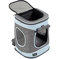 Petsfit Solid Bottom Pet Backpack Carrier for Pets Under 16 Pounds
