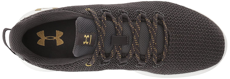 Under Armour Women's Ripple Metallic Sneaker B076S53BVF 11 M US|Charcoal (101)/Black
