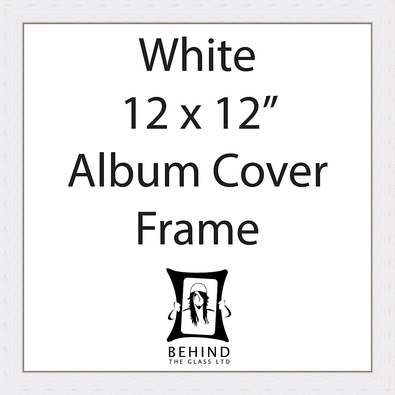 Behind The Glass Handmade White 12 Album Cover Frame Amazoncouk