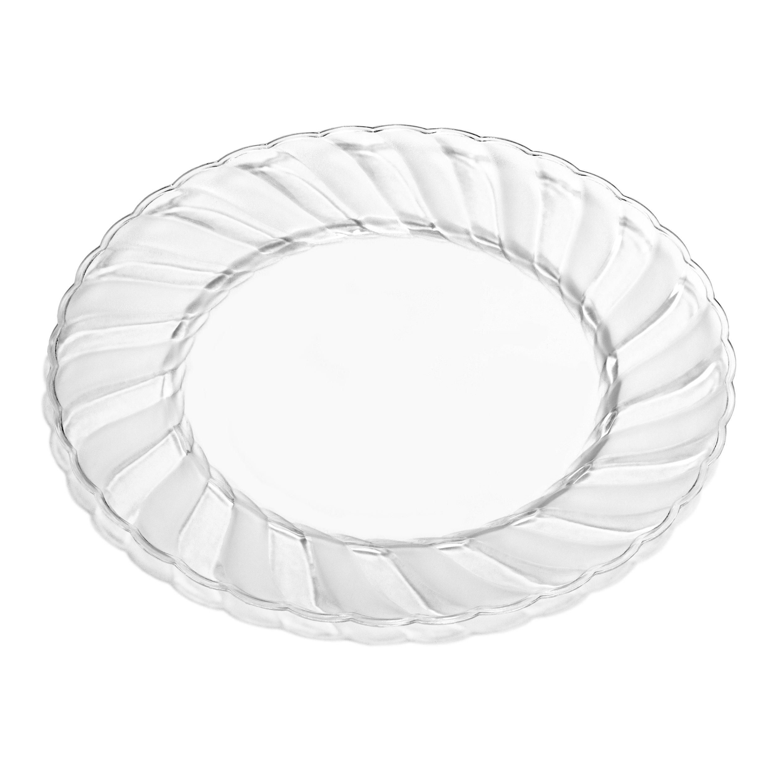 Premium Clear Plastic Plates By Alpha Sigma - 100pcs 9  Food Grade Clear Plastic Plates - Washable Reusable - Perfect For Birthdays Parties Celebrations ...  sc 1 st  eBay & Premium Clear Plastic Plates By Alpha Sigma - 100pcs 9