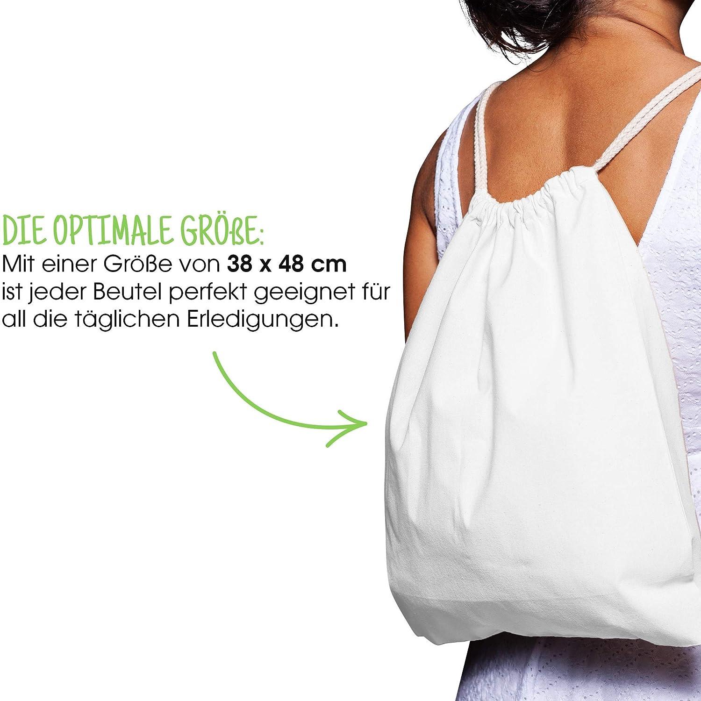 7ffcc3c71ca73 ... Jutebeutel Baumwollbeutel 10 Stück 38x42cm Sportbeutel - Rucksack  Stofftasche Turnbeutel Bag