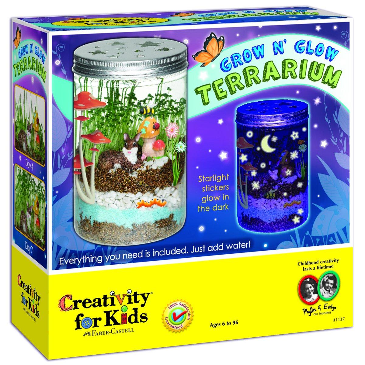 Creativity for Kids Grow 'n Glow Terrarium gifts girls age 6 7