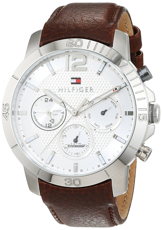 Tommy Hilfiger Reloj de pulsera sofisticado para hombre analógico cuarzo piel