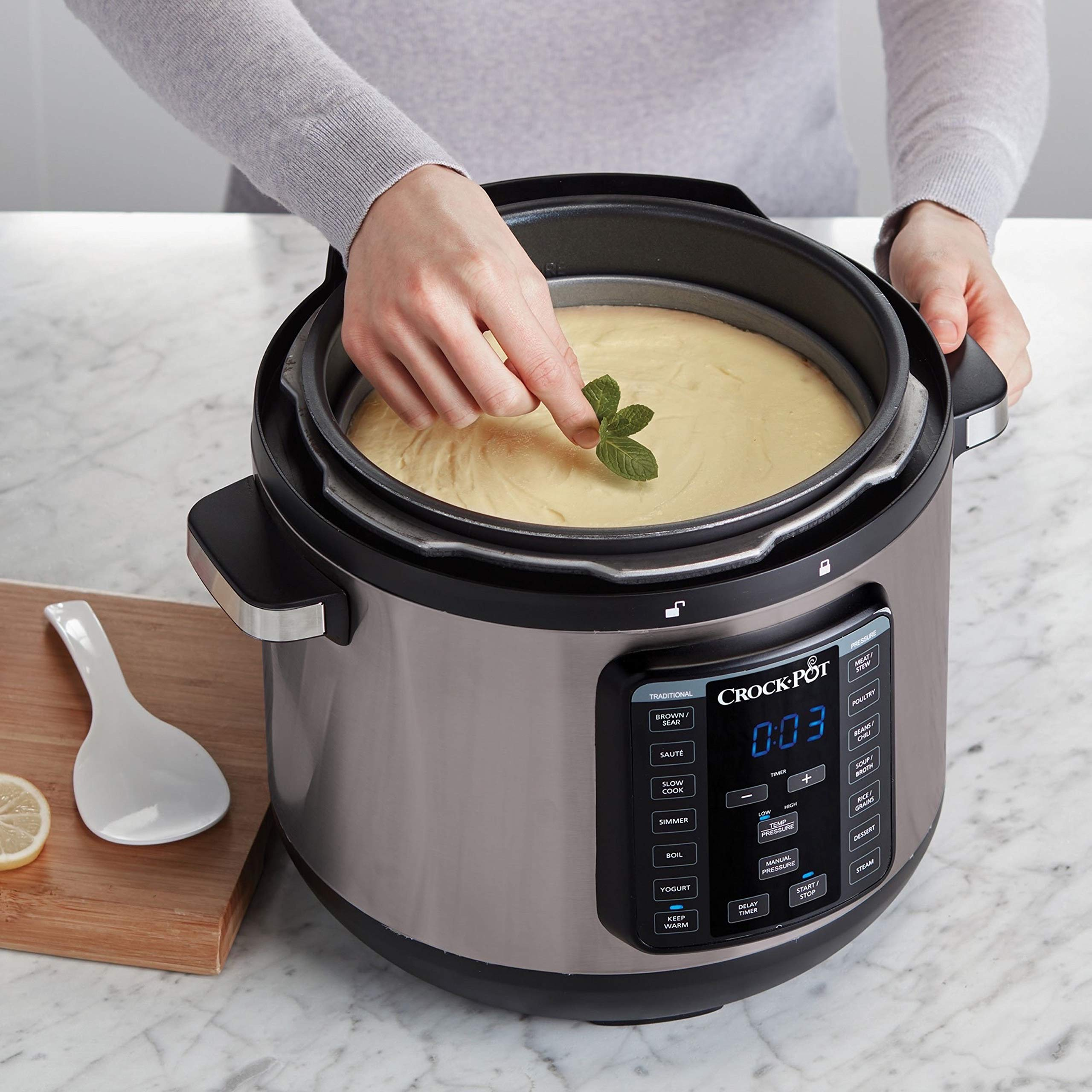 Crock-Pot 8-Quart Multi-Use XL Express Crock Programmable Slow Cooker and Pressure Cooker with Manual Pressure, Boil & Simmer, Black Stainless by Crock-Pot (Image #8)