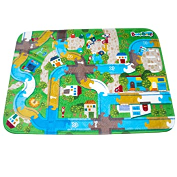 itsImagical Matcircuit Beep Beep - Manta de juegos con circuito de coches, unisex: Amazon.es: Bebé