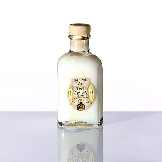 Botellita Miniatura de Licor de Crema de Arroz con Leche Torre María | botella Frasca 10cl