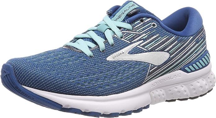 Brooks Adrenaline GTS 19 Sneakers Laufschuhe Damen Blau/Aquablau/Grau