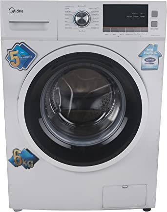 Midea 6 kg Fully-Automatic Front Loading Washing Machine (MWMFL060CPR, White)
