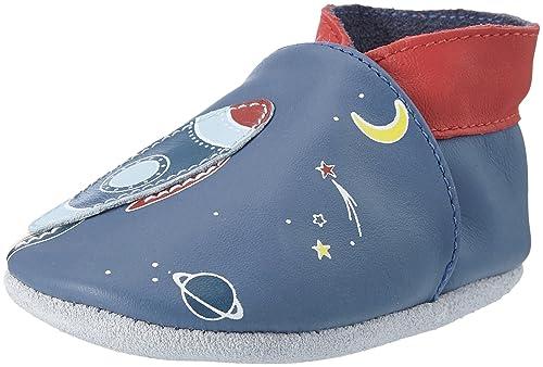 RobeezSweet Rocket - Zapatillas de casa Bebé-Niñas, Color Azul, Talla 17/18 EU: Amazon.es: Zapatos y complementos