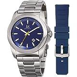 Joshua & Sons Men's Quartz Stainless Steel Casual Watch, Color:Silver-Toned (Model: JX108BU-BX)