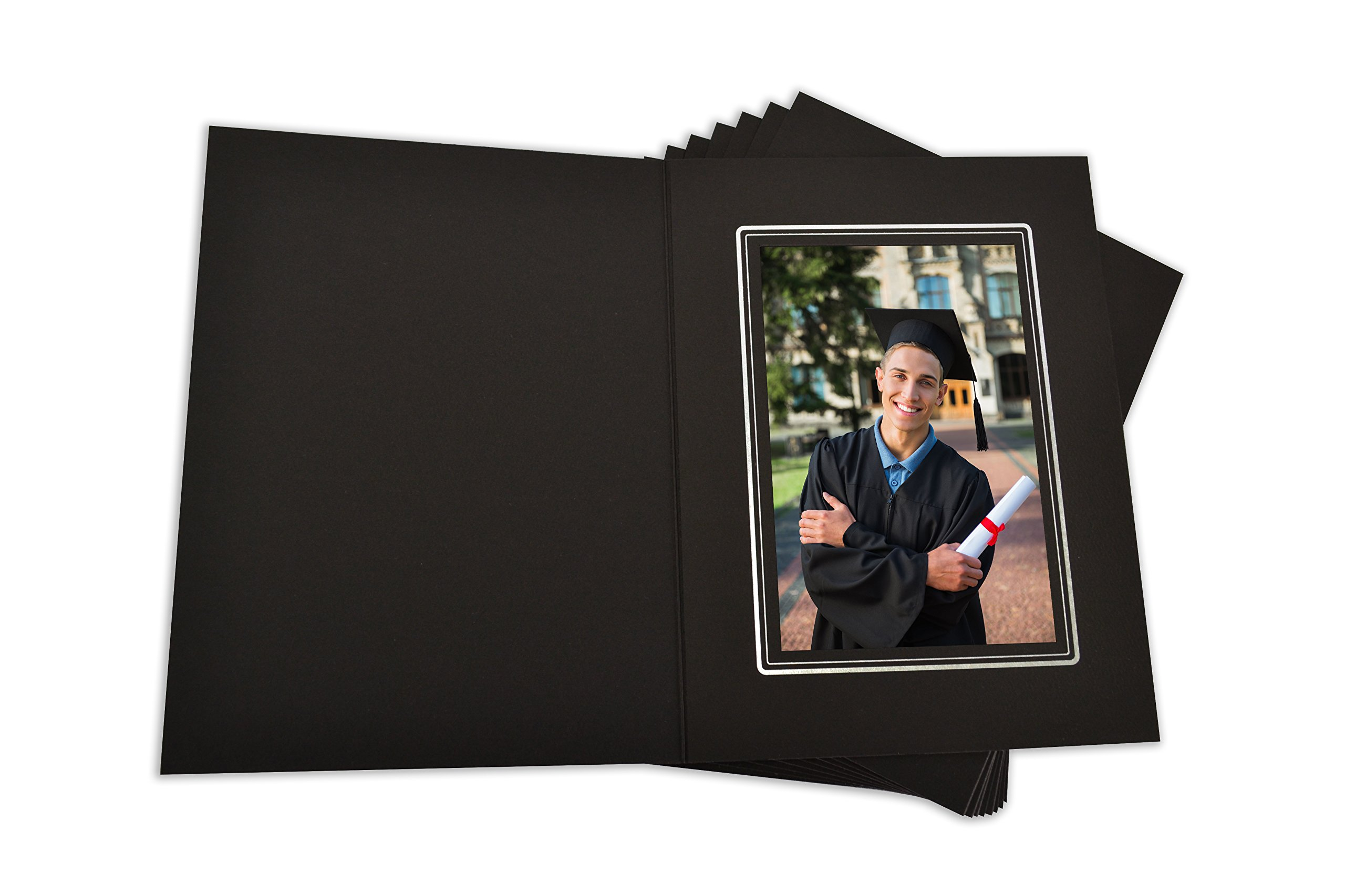 Golden State Art, Cardboard Photo Folder for a 4x6 Photo (Pack of 100) Black Color by Golden State Art (Image #3)