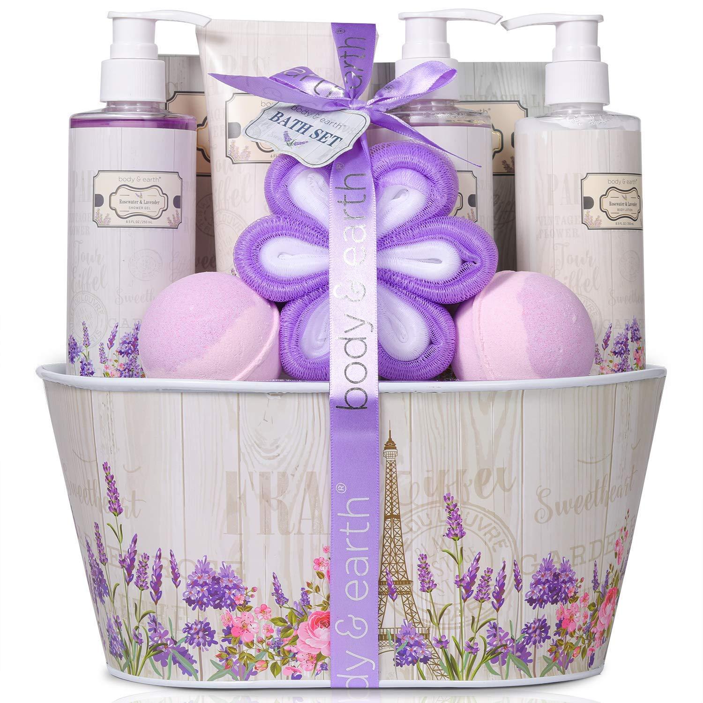 Gift Bakset for women,18 PCS Home Spa Kit