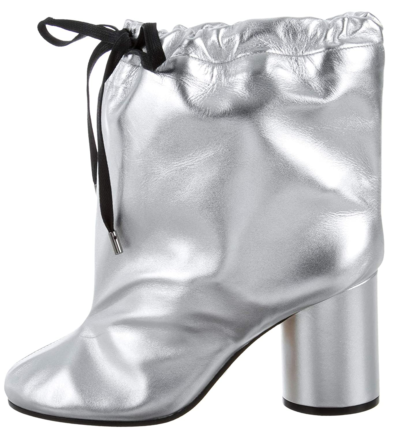 f839964a8 Amazon.com | Maison Margiela Oversized Silver Metallic Calf Leather Ankle  Boots (9 US; 39 IT) | Ankle & Bootie
