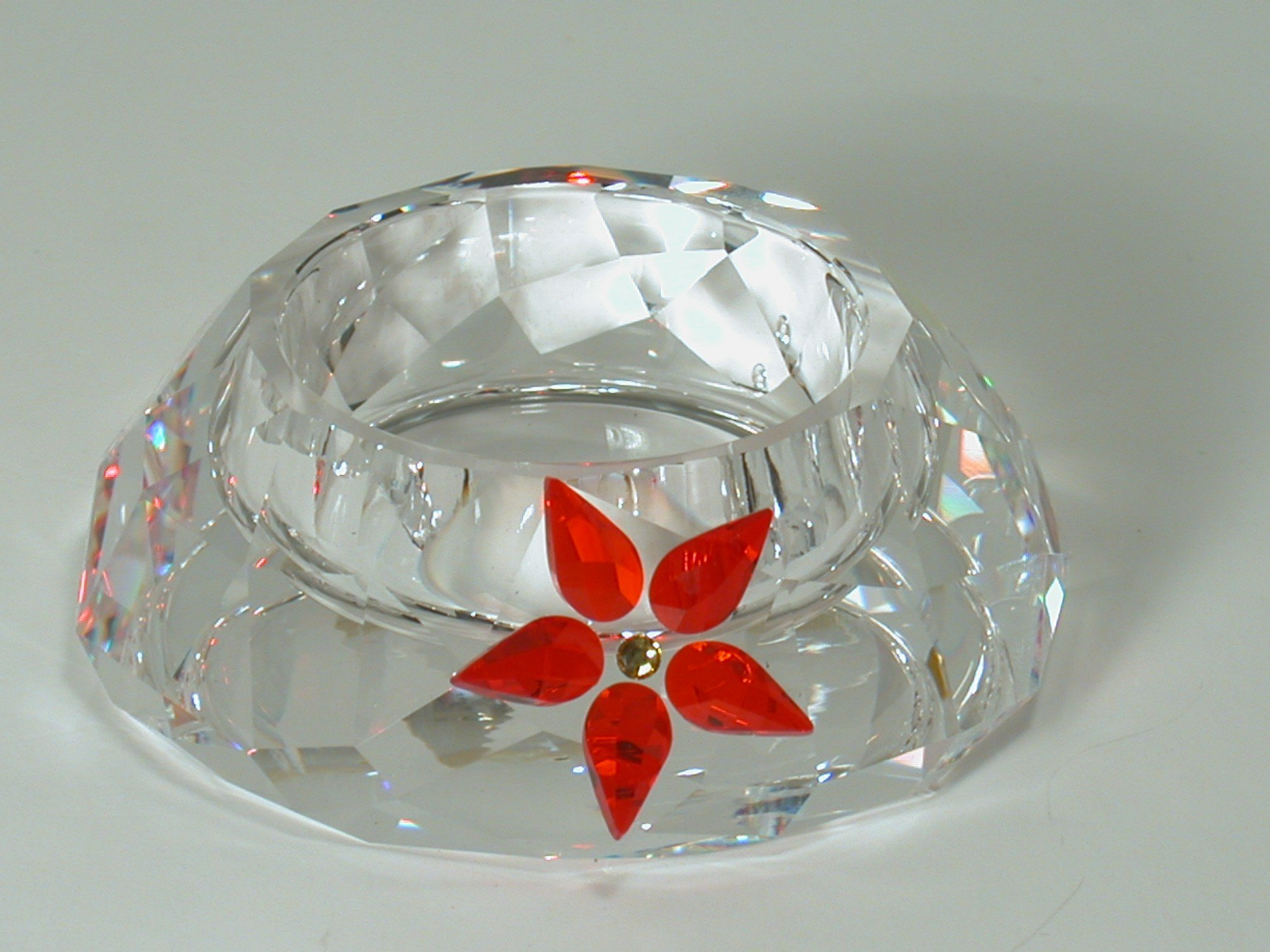 Swarovski Crystal #895391, Poinsettia Tea Light