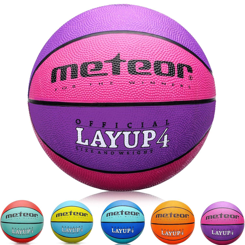 meteor Balón Baloncesto Talla 4 Pelota Basketball Bebe Ball Infantil Niño Balon Basquet - Baloncesto Ideal para los niños y jouvenes para Entrenar y ...