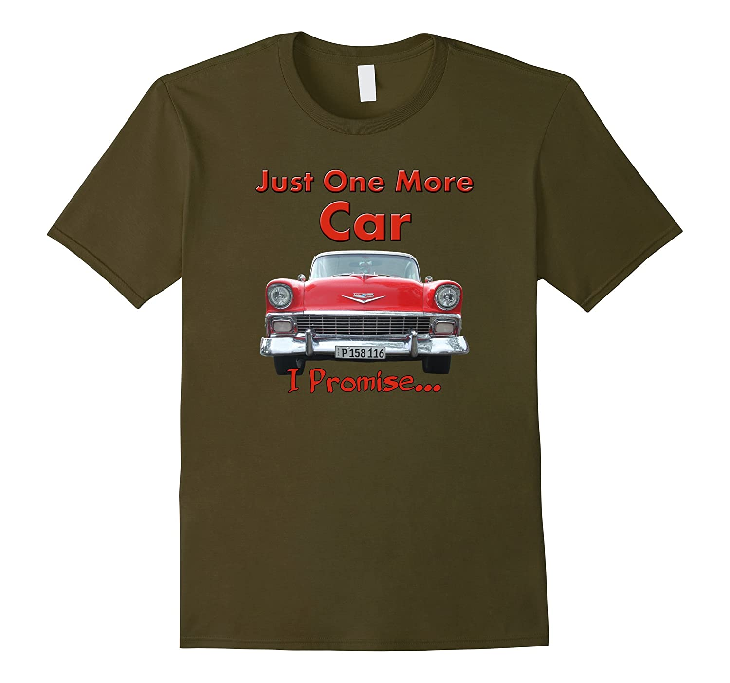 Men's Classic Car Lover Gift Idea Funny Just One More Car T Shirt-CL