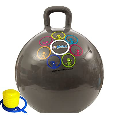 Hippity Hop 45 cm / 18 Inch Diameter Including Free Foot Pump, for Children Ages 3-6 Space Hopper, Hop Ball Bouncing Toy - 1 Ball: Toys & Games