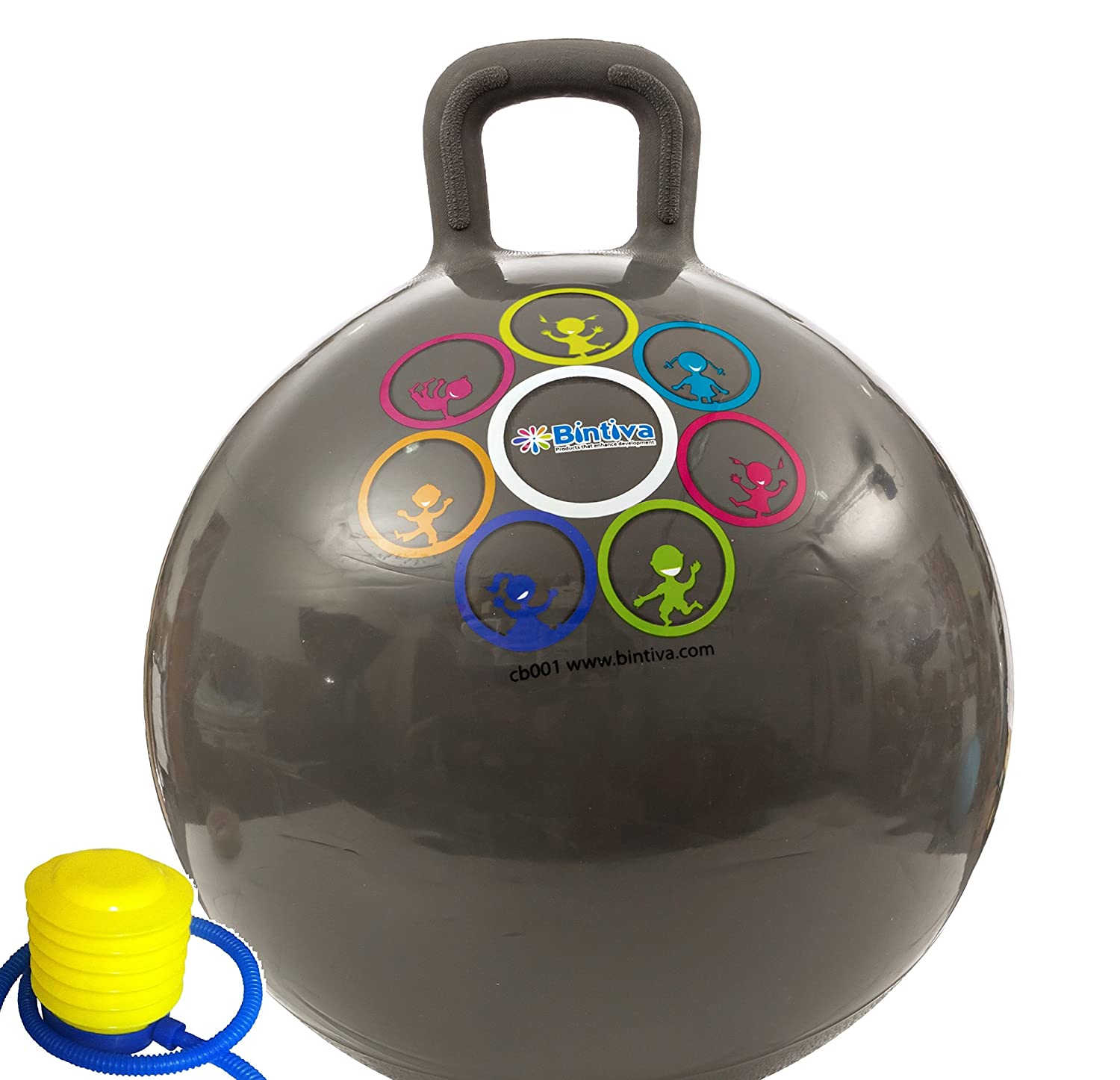 Hippity Hop 45 Cm / 18 Inch Diameter Including Free Foot Pump, For Children Ages 3-6 Space Hopper, Hop Ball Bouncing Toy - 1 Ball bintiva