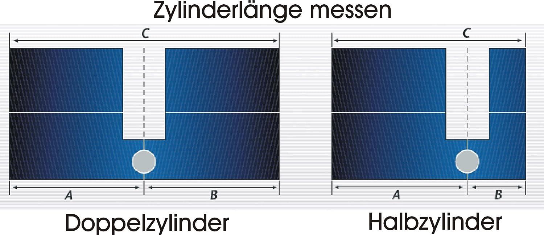 1 = 6 Clés — n/&g Abus ec550 Profil Cylindre//Cylindre De Verrouillage — avec 5