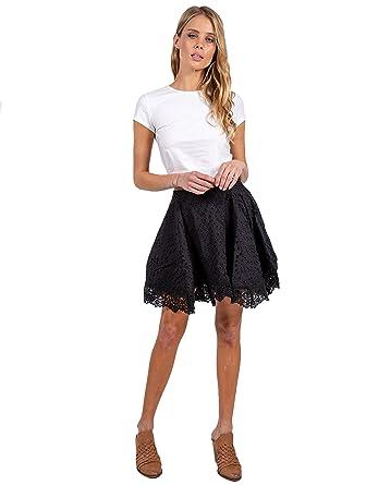 ea9e388b4346 Amazon.com: Nightcap Clothing Women's Eyelet Mini Skirt: Clothing