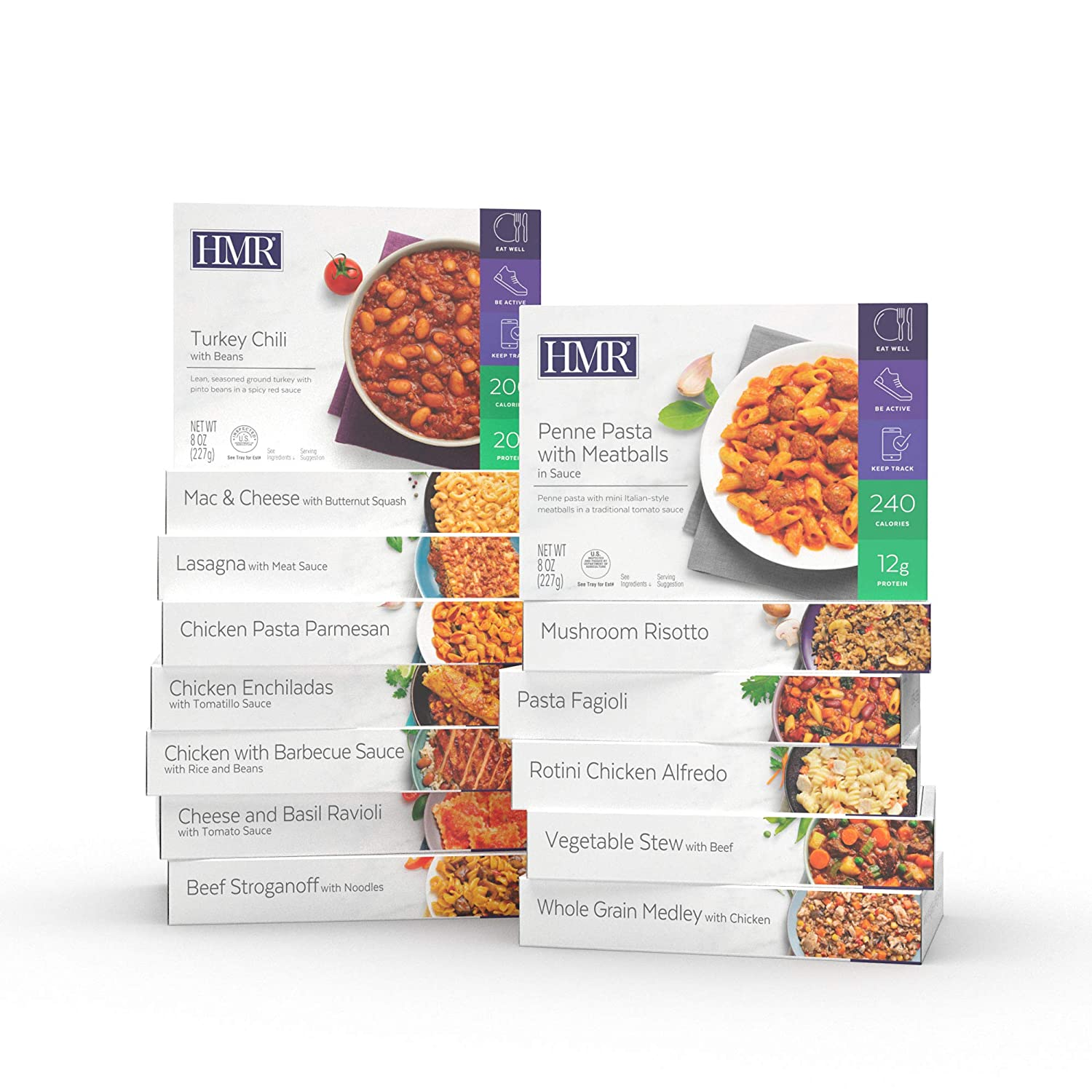 hmr ultimate entree variety pack 14 different meals 7 8oz servings 14 meals
