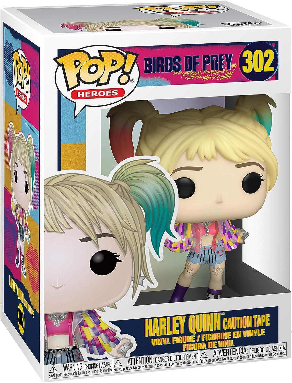 Multicolour Birds of Prey-Harley Quinn w//Beaver Collectible Figure Funko Pop Heroes 44378